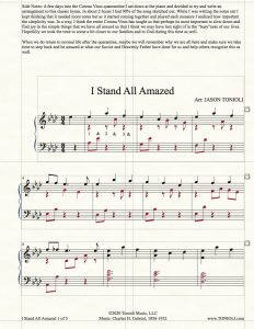 NEW!!! I Stand All Amazed (Intermediate Piano Solo)