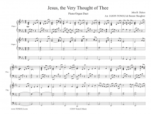 Jesus the Very Thought of Thee (Organ+Piano Duet) Sheet Music Download