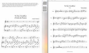 To Say Goodbye - Piano & Violin Duet Sheet Music