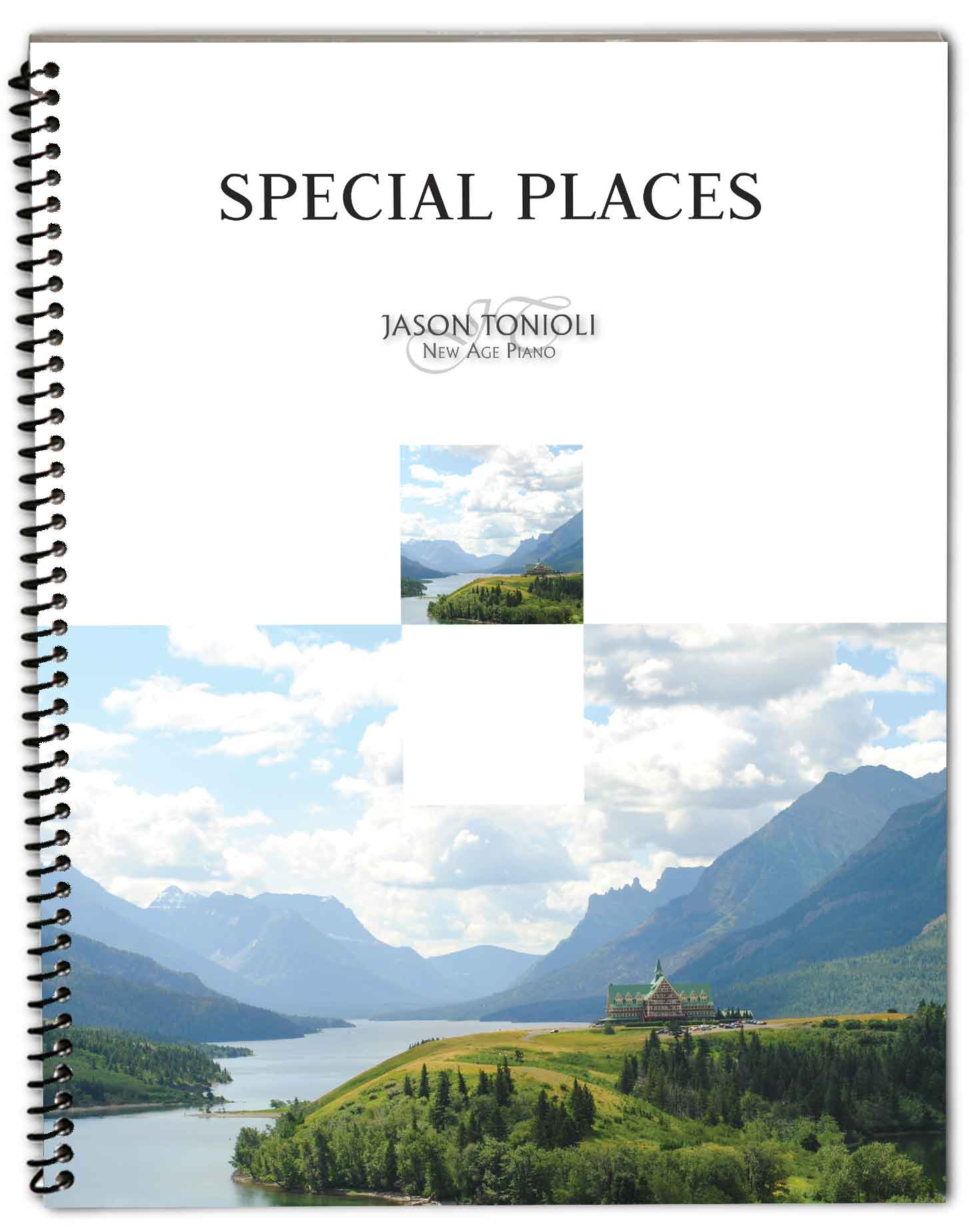 NEW!!! March 2020 – Special Places – Original Solos – Spiral Piano Music Book